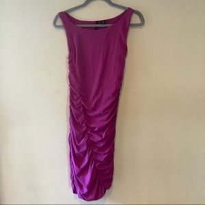 NWT ISDA & CO PINK SLEEVELESS RUCHED BODYCON DRESS